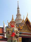 在宏伟的宫殿,泰国曼谷泰国恶魔 — 图库照片