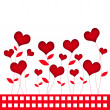 Stock Photo: Valentine flower background for valentine day