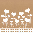Recycle paper valentine flower background for romance, wedding a — Stock Photo #12104659