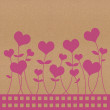 Recycle paper valentine flower background for romance, wedding a — Stock Photo #12104688