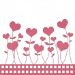 Recycle paper valentine flower background for romance, wedding a — Stock Photo #12104744