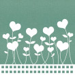 Recycle paper valentine flower background for romance, wedding a — Stock Photo
