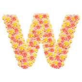 W,flower alphabet isolated on white — Stock Photo