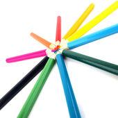 Lápis colorido vindo juntos — Foto Stock