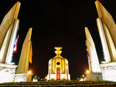 Democracy monument at night in Bangkok. — Stock Photo