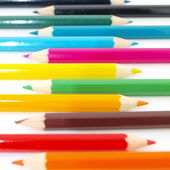 Row of colors pencil on white background — Stock Photo
