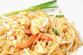 Thai food Pad thai , stir-fried rice noodles (Pad Thai) — Stock Photo