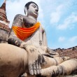 Wat Yai Chai Mongkol- Ayuttaya of Thailand — Stock Photo