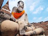 Wat Yai Chai Mongkol- Ayuttaya of Thailand — Stock Photo
