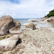 Thai island of Koh Samui. The pile of rocks on the beach — Stock Photo