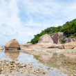 Stock Photo: Thai island of Koh Samui. The pile of rocks on the beach