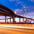 Bhumibol Bridge, The Industrial Ring Road Bridge in Bangkok. Lon — Stock Photo