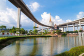 Bhumibol Bridge, The Industrial Ring Road Bridge in Bangkok, Thailand — Stock Photo
