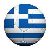 Bandiera grecia modello rendering 3d di un pallone da calcio — Foto Stock