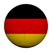 Germany Flag Pattern 3d rendering of a soccer ball — Stock Photo