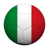 Italy Flag Pattern 3d rendering of a soccer ball — Stock Photo