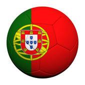 Porgutal Flag Pattern 3d rendering of a soccer ball — Stock Photo