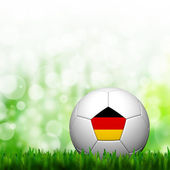 3D Football Germany Flag Patter in green grass and background — Stock Photo