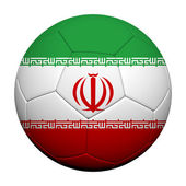 Iran Flag Pattern 3d rendering of a soccer ball — Stock Photo