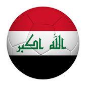 Bandeira do Iraque padrão de renderização 3d de uma bola de futebol — Fotografia Stock