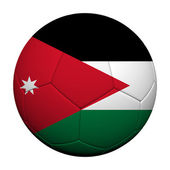 Jordan Flag Pattern 3d rendering of a soccer ball — Stock Photo