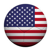 The United States Flag Pattern 3d rendering of a soccer ball — Stockfoto