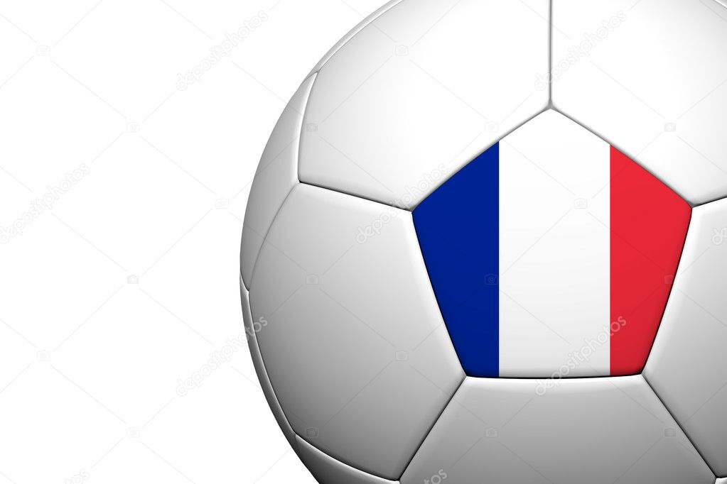 France Flag Pattern 3d rendering of a soccer ball — Stock Photo #12231873