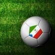 Equatorial Guinea Flag Pattern 3d rendering of a soccer ball in - Foto Stock