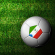 Equatorial Guinea Flag Pattern 3d rendering of a soccer ball in - ストック写真