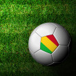 Mali Flag Pattern 3d rendering of a soccer ball in green grass — Stock Photo