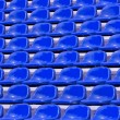 Regular Blue seats in a stadium — Stock Photo