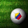 Venezuela Flag Pattern 3d rendering of a soccer ball in green gr — Stock Photo