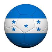 Honduras vlajky vzor 3d vykreslování fotbalového míče — Stock fotografie