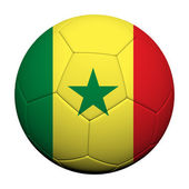 Senegal Flag Pattern 3d rendering of a soccer ball — Stock Photo