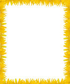 Yellow flower frame with white space background — Stock Photo
