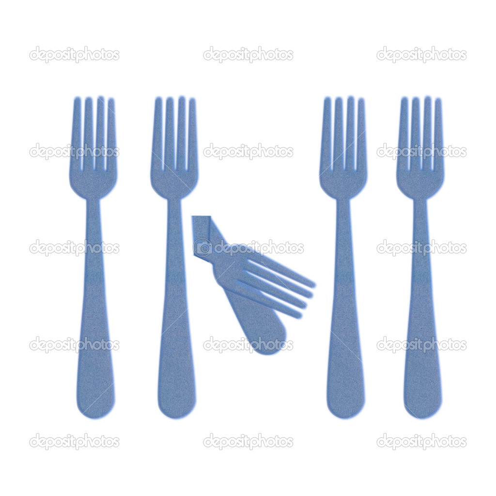 Unique concept,Broken fork — Stock Photo #12253073