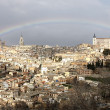 Rainbow over Toledo — Stock Photo