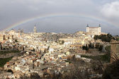 Rainbow over Toledo — Stockfoto