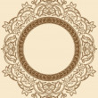 Vintage Floral Circle Ornament — Stock Vector #11157769