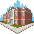 School Building - Stock Vector