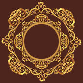 Golden Circle Ornament — Stock Vector