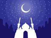Ramadan & Eid Mubarak Greeting 3 — Stock Vector