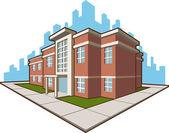 Edificio de la escuela — Vector de stock