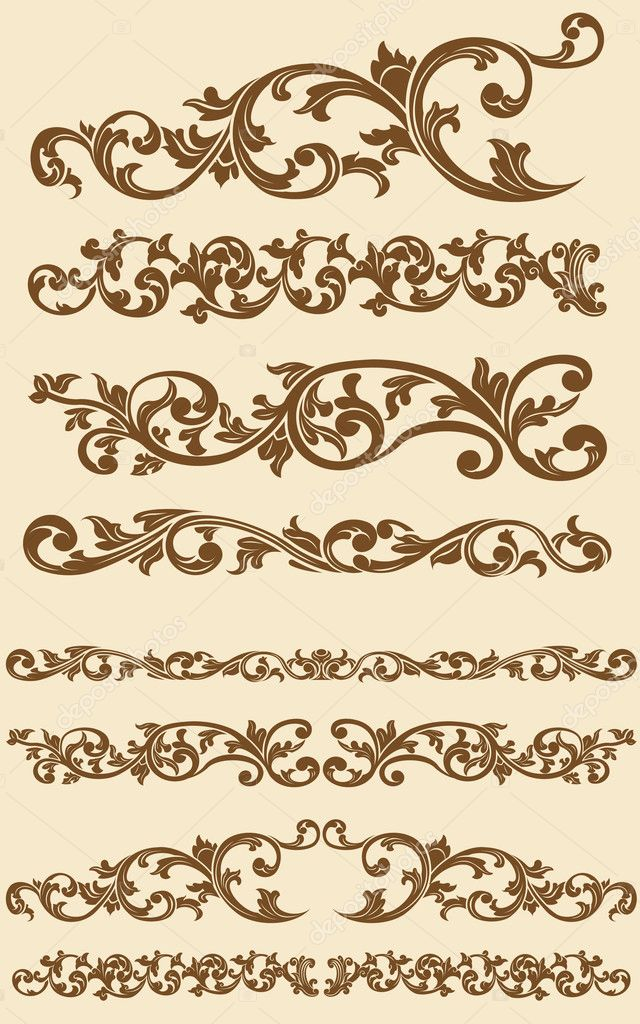 A vector set of javanese's beautiful vintage of floral circle ornament. Looks luxurious and exclusive, this vector is very good for card, brochure, invitation, or other application that needs exclusive and vintage look. — Stock Vector #11522569