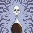 Bottle of Death Poison — Stock Vector