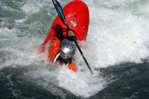 Canoe freestyle — Stock Photo