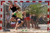 Beachhandball women — 图库照片