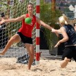 Beachhandball women — ストック写真