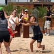 Beachhandball women - Stock Photo