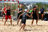 Mulheres beachhandball — Foto Stock